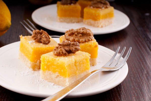 Preparación de las barras de limón. Receta casera para hacer barras de limón. Cómo preparar barras de limón sin gluten