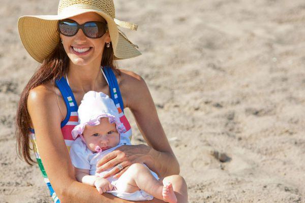 Elegir el destino para ir de vacaciones con un bebé. Cómo vacacionar con bebés. Tips para elegir el lugar para ir de viaje con un bebé