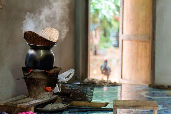 Canastilla de bambú para cocinar al vapor
