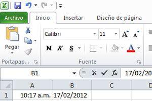 Ilustración de Cómo insertar la fecha o la hora en un documento de excel
