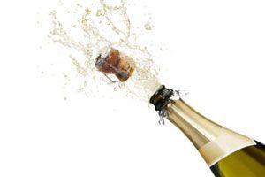 Ilustración de Cómo Abrir una Botella de Champagne