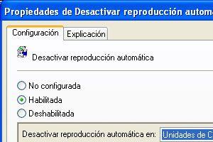 Ilustración de Como quitar el arranque automático de discos al colocar un CD u otro dispositivo