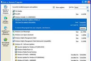 Como Desinstalar el Internet Explorer 7