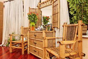 Ilustración de Cómo limpiar muebles de bambú