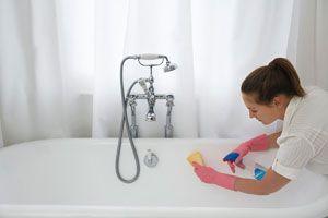 Ilustración de Cómo Limpiar la Bañera