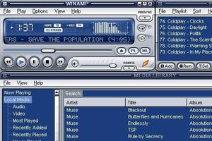 Ilustración de Como cargar automáticamente los datos de las canciones en Winamp