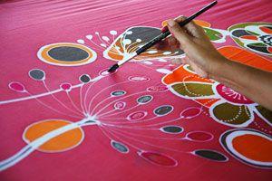 Ilustración de C&oacutemo Pintar Sobre Tela
