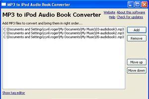 Ilustración de Cómo convertir archivos Mp3 a M4B para iPod