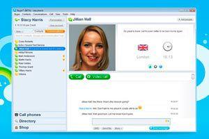 Ilustración de Como hablar por tel&eacutefono por Skype