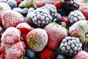 Ilustración de C&oacutemo Congelar Frutas