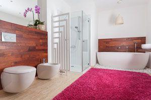 Ilustración de Cómo limpiar las alfombras de baño
