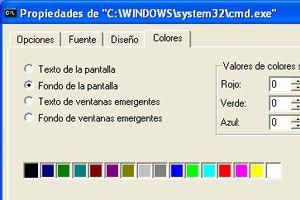 Ilustración de Como cambiar los colores de la linea de comandos
