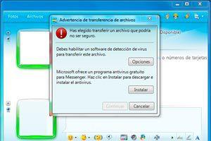Ilustración de Como transferir un archivo con Messenger