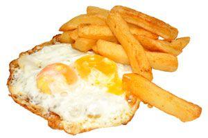 Ilustración de Cómo preparar huevos estrellados