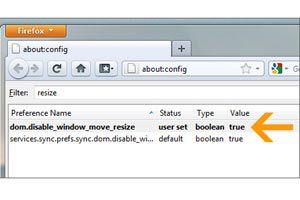 Ilustración de Cómo impedir que un sitio cambie el tamaño de tu navegador