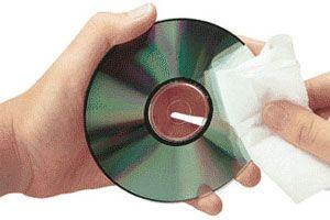 Ilustración de Eliminar Rayas y Suciedad superficial de los CD o DVD