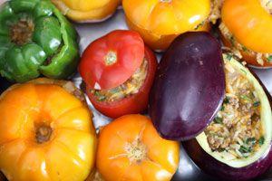 Cómo rellenar los vegetales