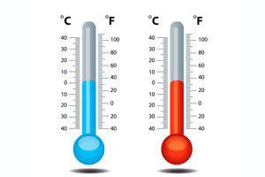 Ilustración de Tabla de equivalencias entre  grados Celsius y Fahrenheit