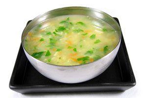Ilustración de Cómo cocinar sopa de pollo en microondas