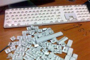 Ilustración de Cómo desarmar y limpiar un teclado