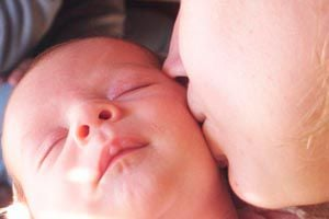 Ilustración de Cómo estimular un bebé de 1 mes
