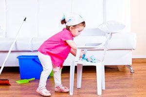 Ilustración de Como enseñarles a los niños a ayudar en la casa