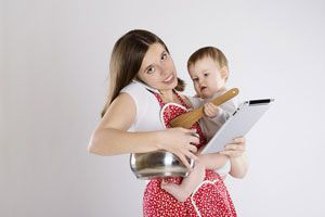 Ilustración de Cómo ser mamá y salir a trabajar