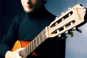 Ilustración de Como aprender a tocar la guitarra por Internet