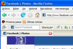 Ilustración de Como tener Facebook en la barra de Herramientas de Firefox