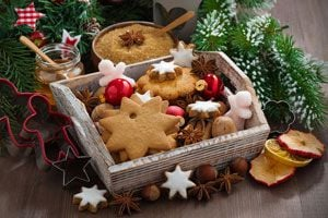 Ilustración de Cómo preparar galletas navideñas