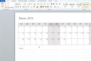Ilustración de Cómo Crear Calendarios en Word