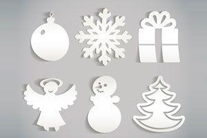 Ilustración de C&oacutemo crear adornos de papel para el pino de Navidad