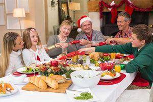 Ilustración de Cómo preparar un buffet informal para la Navidad