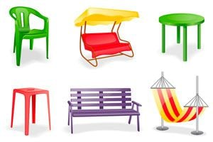 Ilustración de Como cuidar los muebles de jardín (PVC), de madera o de caño