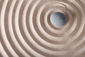 Ilustración de Como tener un jardín zen virtual