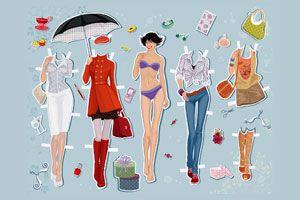 Ilustración de Cómo usar y combinar los Accesorios al Vestirte según Nuestro Cuerpo