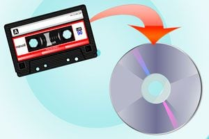 Ilustración de Cómo Pasar un Cassette a CD