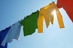 Ilustración de Cómo secar la ropa