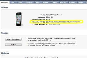 Ilustración de Cómo obtener el número de identificación de un iPhone, iPod o iPad