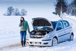 Ilustración de Cómo conducir en la nieve