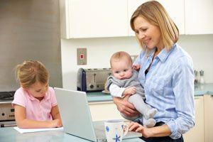 Ilustración de Cómo pasar tiempo con los hijos cuando somos madres trabajadoras