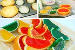 Ilustración de Cómo hacer gajos de gelatina para decorar tragos