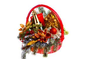 Ilustración de Cómo armar canastas de Navidad personalizadas