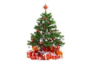 Cómo disimular el pie de un árbol de Navidad artificial