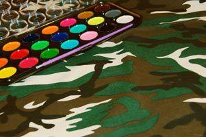 Ilustración de Cómo pintar camuflaje con técnica de enmascarado