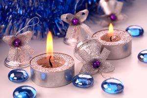 Centro de mesa navideño aromático.