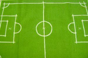 Ilustración de Cómo hacer una alfombra con diseño de cancha de fútbol