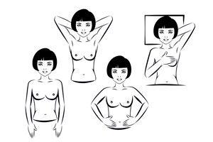 Ilustración de Cómo hacer un autoexamen de senos