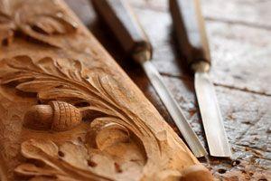 Ilustración de Cómo tallar madera