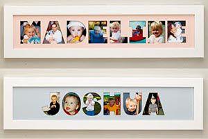 Ilustración de Cómo hacer un cuadro con fotos y el nombre de tu hijo